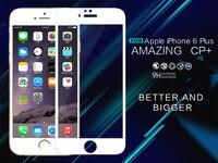 Dla Apple iPhone 6 4.7 Hartowanego Szkła Screen Protector Nillkin 9 H Niesamowite CP + (kompletna zasłony) 2.5D Okrągły Krawędzi Dla iPhone 6