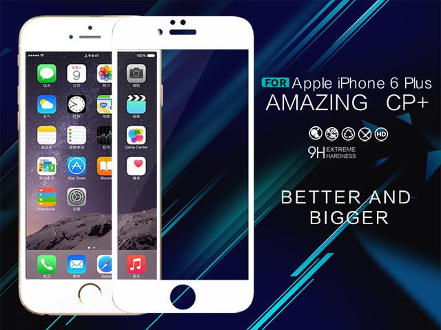 Para apple iphone 6 4.7 templado protector de pantalla de cristal nillkin 9 h increíble cp + (revestimiento completo) 2.5d ronda edge para iphone 6
