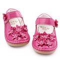 High Quality Beautiful Crystal Flower PU Leather Rubebr sole Baby moccasins Shallow Baby Girl Princess Shoes 1-3 Years