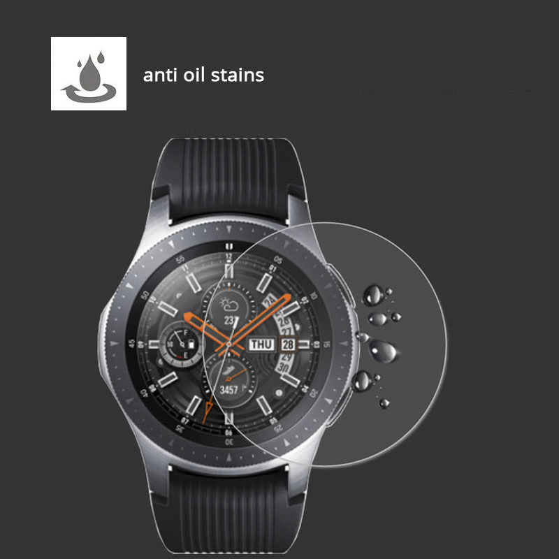 Image 3 - 2Pcs/lot Tempered Glass For Samsung Galaxy Watch Glass 42mm 46mm 9H 2.5D Screen Protector For Samsung Galaxy Watch 46mm Film-in Phone Screen Protectors from Cellphones & Telecommunications