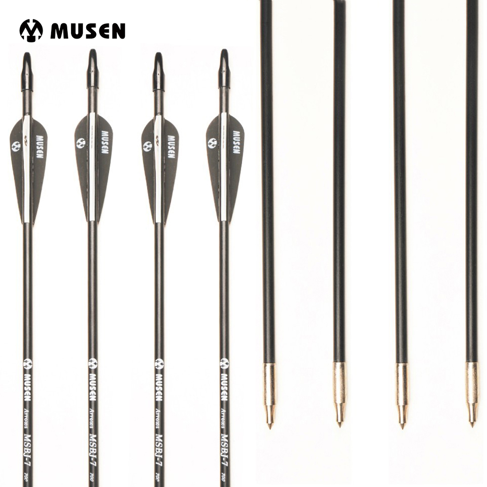 6/12/24pcs 30 Inches Spine 700 Fiberglass Arrow with Black and White Feather for Recurve Bow Archery Shotting Hunting Target suunto arrow 6