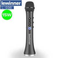 Lewinner L-698 Wireless Karaoke Mikrofon Bluetooth Lautsprecher 2in1 Handheld Singen & Aufnahme Tragbare KTV Player für iOS/Android