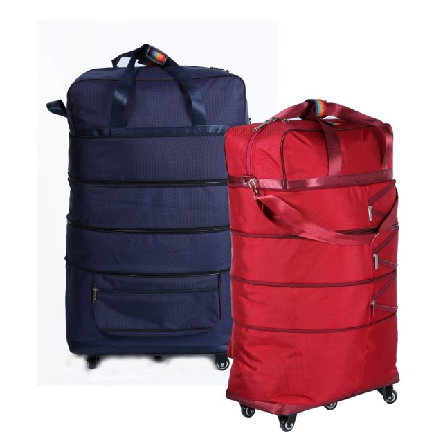 4b82032ebc9b Ultra-light bag travel bag 158 checked bag belt wheel folding luggage  moving package large