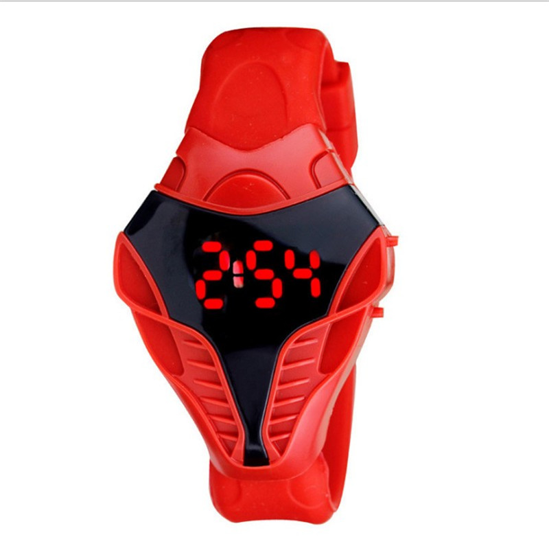Digital Watches New Men Male Sport Led Watch Triangle Dial Snake Head Cobra Women Mens Wristwatch Silicone Rubber Creative Digital Watches Buy One Give One
