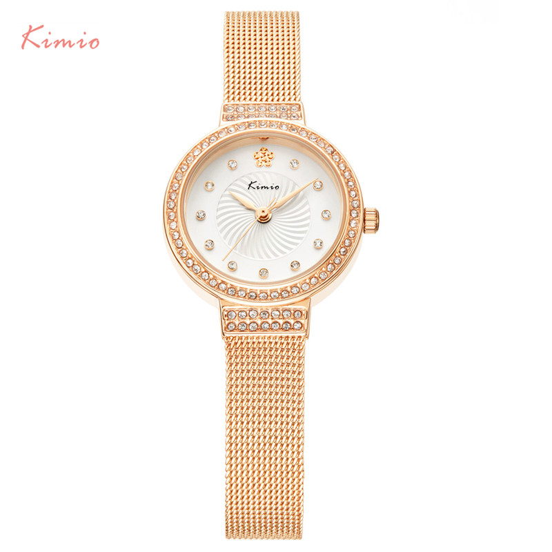 KIMIO Rose Gold Women Bracelet Watch Top Brand Luxury Rhinestone Quartz Ladies Wristwatch Female Fashion Dress Clock uhren damen kimio brand diamond rhinestone rose gold bracelet women watches fashion woman watch luxury quartz watch ladies wristwatch clock