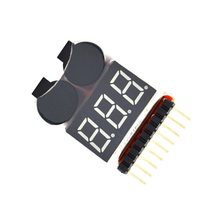 2 In 1 Li-Ion RC Lipo Batterij Laag Voltage Alarm 1-8 S Buzzer Indicator Checker Tester LED Display board Module(China)