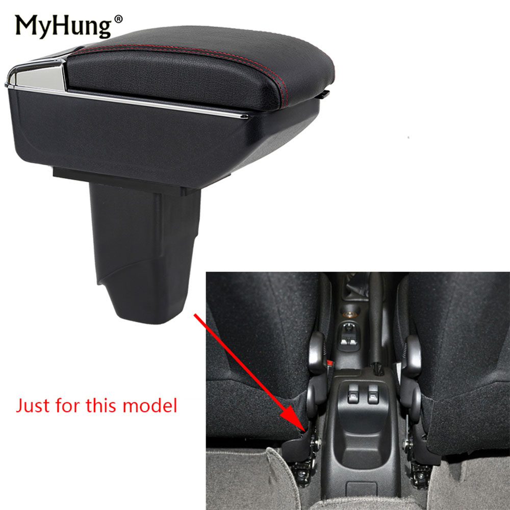 For <font><b>PEUGEOT</b></font> <font><b>206</b></font> 207 2006-2013 <font><b>Armrest</b></font> box Central Console Arm Store Car box With Rise and Down Function box cup holder ashtray image