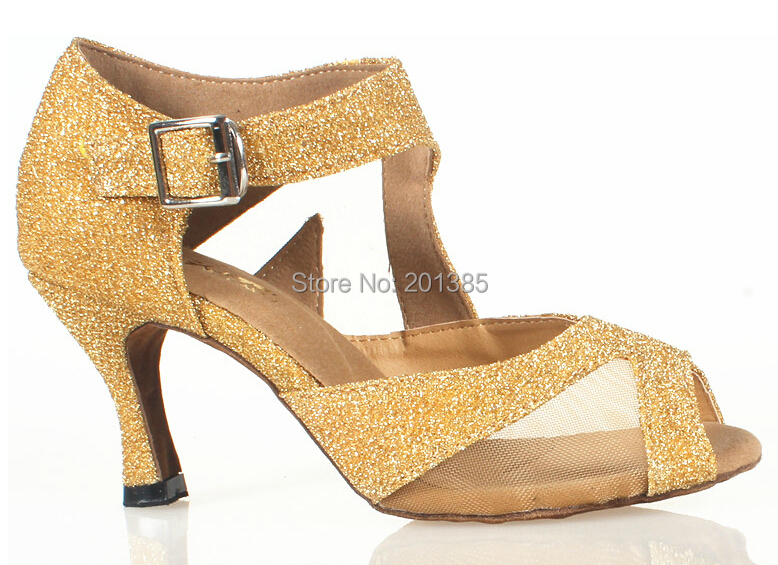 Wholesale Women Gold Glitter Ballroom LATIN Dance Shoes SALSA Dance Shoes Salsa Dancing Shoes ALL SIZE