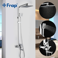 FRAP Shower Faucets high quality with ABS shower head bath shower mixer set for bathroom chrome shower faucet tapsmodern style