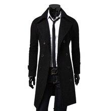 NUOVO Marchio di Moda Autunno Giacca Lunga Trench e Impermeabili Cappotto  Degli Uomini di Alta Qualità d90447445f7
