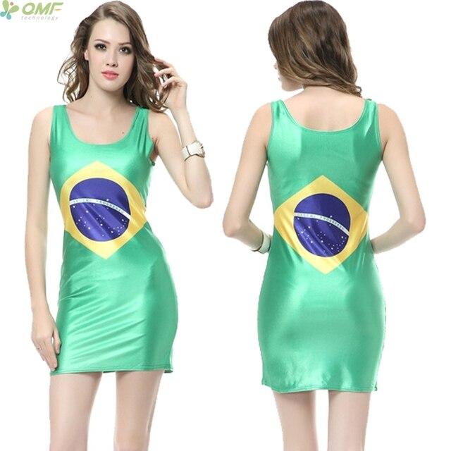 Groene korte jurk