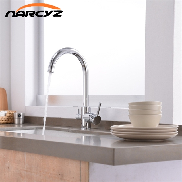 Hot Sale 3 Way Tap Kitchen Water Drinking Water Faucet Chrome