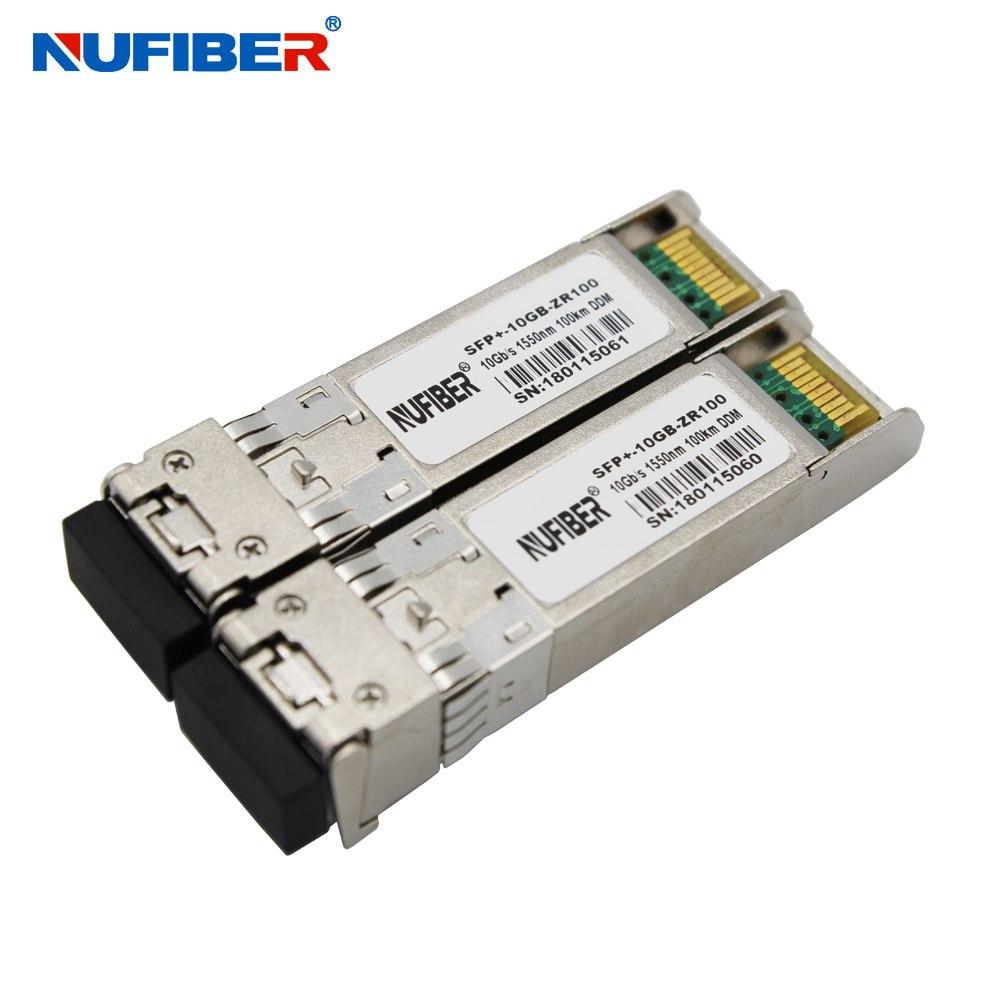 EXW prix 10 Gb/s SFP + émetteur-récepteur SFP-10G-ZR100 double fibre monomode 100 km 1550nm LC DDM livraison gratuite