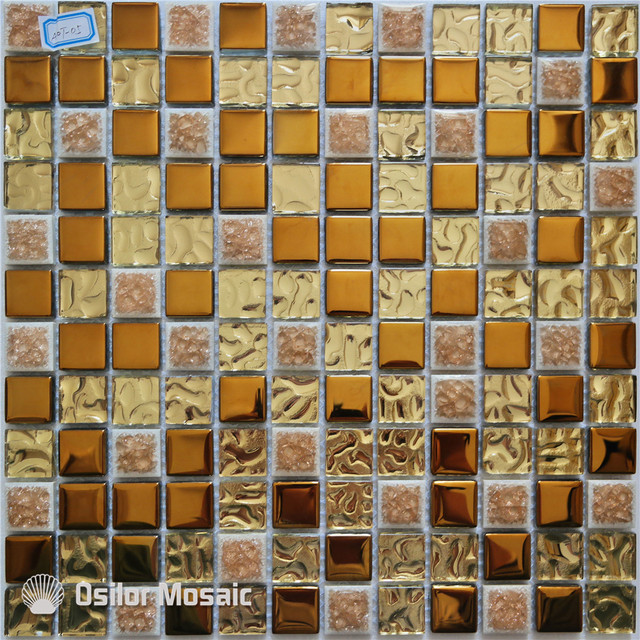 Trasporto Libero Di Ceramica Mattonelle Di Mosaico Oro Mosaico Di Vetro  Piastrelle Per Interni Casa Decorazione
