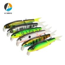 Купить с кэшбэком AI-SHOUYU New Wobbler Magallon 70mm 8g Hard Minnow Bait Artificial Bait Swim Bait with Spare Tail Fishing Lures Sinking Bait