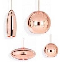Стеклянная шариковая Подвесная лампа Tom Dixon медное широкое зеркало подвесные светильники для гостиной спальни промышленные лампы домашние