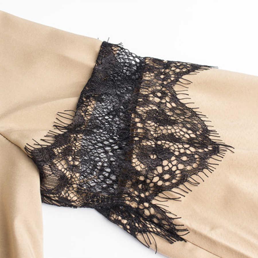 2018 летние Кружево платье Для женщин моды шить расклешенными рукавами дамы Платья для женщин Повседневное свободные Платье с круглым воротником полые вечерние платья
