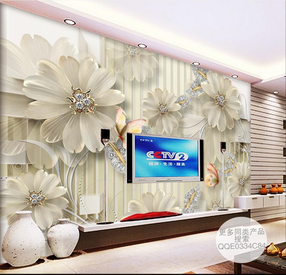 custom 3d stereoscopic wallpaper for walls 3 d HD court jewelry flowers photo mural wallpaper for living room custom baby wallpaper snow white and the seven dwarfs bedroom for the children s room mural backdrop stereoscopic 3d