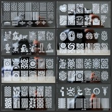 30pcs 6*12cm Nail Printing Plate 30 Styles Stamping Plates Set Lace Flowers Steel DIY Art template Kits JR01-30#