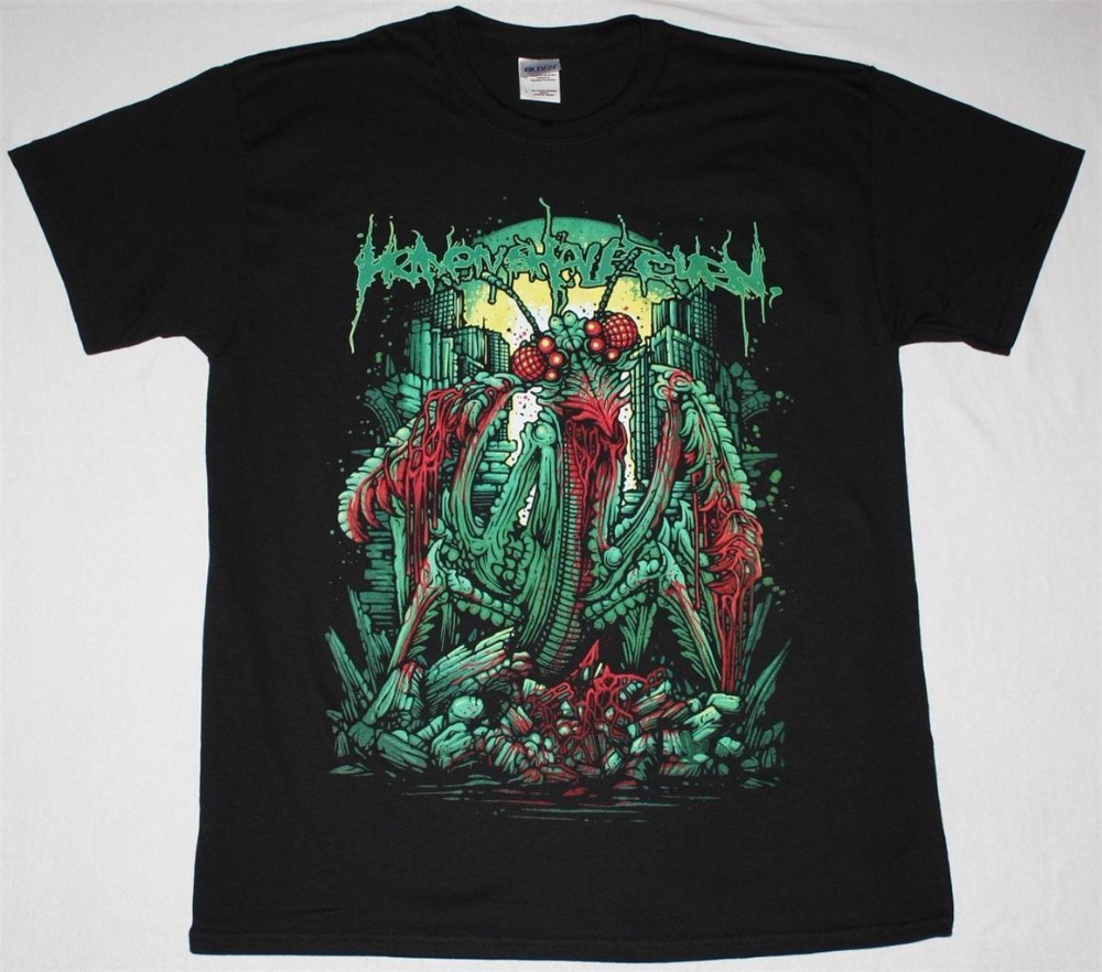 Fashion Funny Tops TeesHEAVEN SHALL BURN MANTIS METALCORE CALIBAN NEW BLACK T-SHIRT Printed T Shirts Mens Streetwear