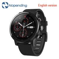 Новый оригинальный Huami Amazfit Stratos смарт спортивные часы 2 5ATM Водонепроницаемость 1,34 '2.5D Экран gps компании Firstbeat плавание Smartwatch