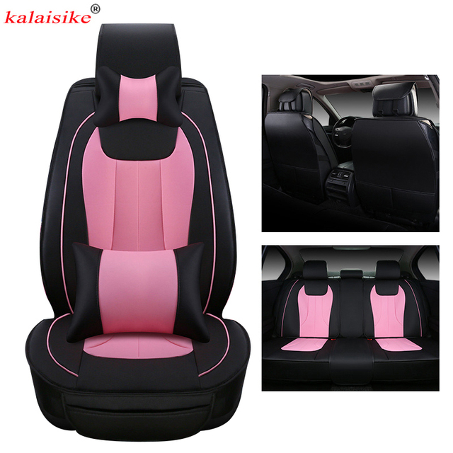 kalaisike leather Universal Car Seat Covers for Suzuki all models grand vitara vitara jimny swift Kizashi SX4 liana car styling 1
