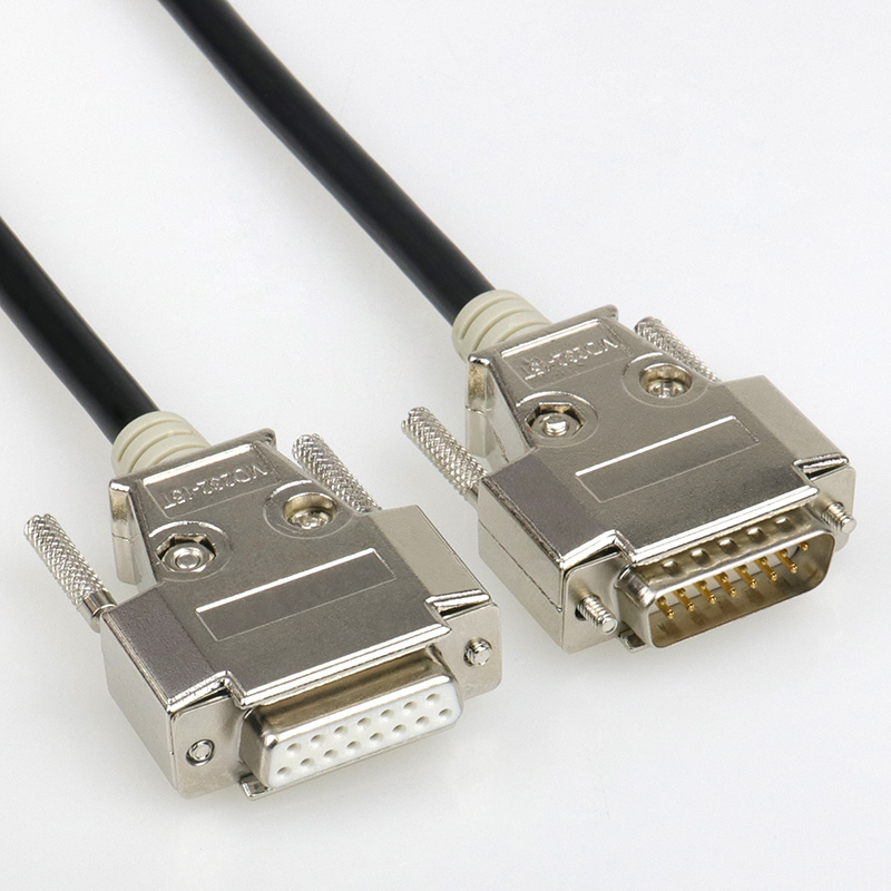 DB15 Cable DB 15 Pin Two Rows Connectors DB15 Data Cable Male to Male Male to Female Female to Female 1.5m 2m 3m 5m 8m 26AWG 1m 1 8m 3m e sata esata male to male extension data transfer cable cord for portable hard drive 3ft 6ft 10ft