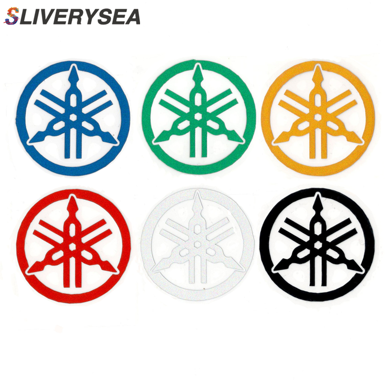 SLIVERYSEA 5*5cm For Yamaha Logo JDM Reflective Sticker Window Decal Car Truck Car Styling Vinyl Stickers Black /Sliver #B1342 spider web hood rear window auto car vinyl decal stickers