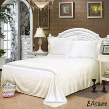 free shipping classic imitate silk feel satin plain solid coffee pink purple bedding sheet duvet cover bedclothes bed