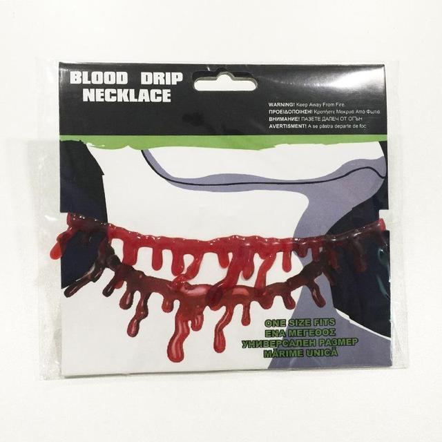 Halloween Decoration Horror Blood Drip Necklace