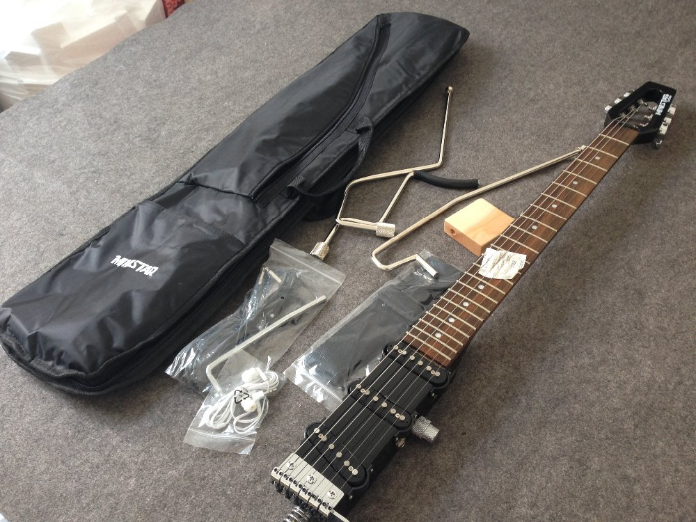 Ministar Caster electric guitar S S S pickups mini guitar travel guitar kroean parts including bigbag and parts