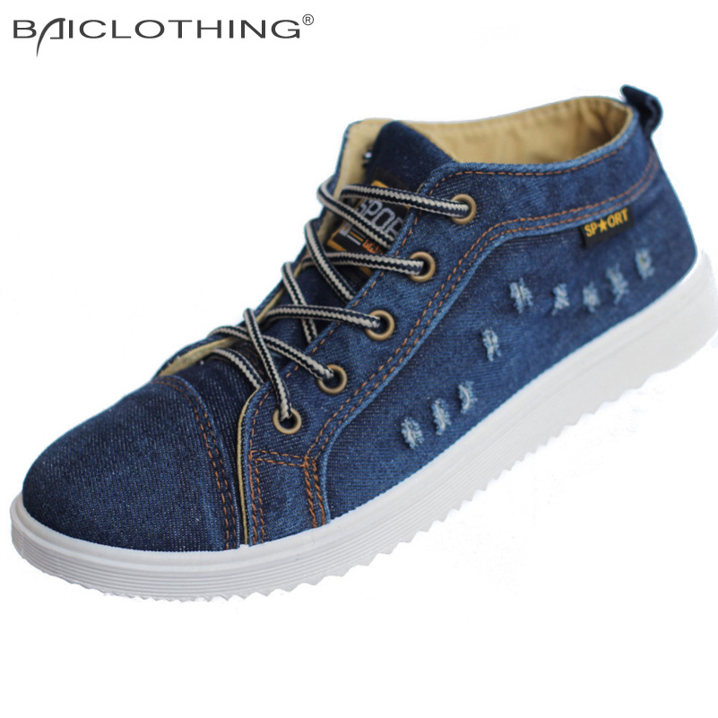 Product 2016 Spring Fall Summer Men Shoes Non-Slip Breathable Cowboy Canvas Casual Low / High Upper Outdoors