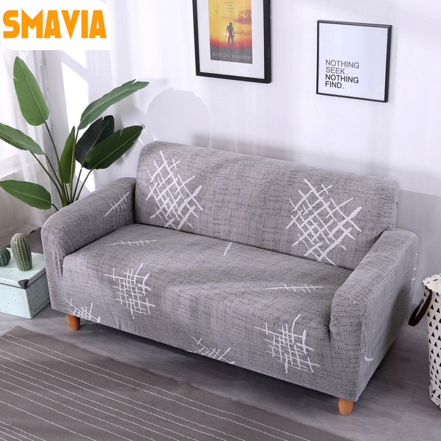 SMAVIA Hot Sale Gray Simple Sofa Cover 100%Polyester Couch Seat ...