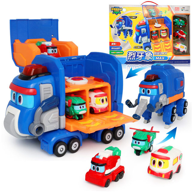 a25dfa646 2019 Newest Gogo Dino Deformation Elephant Rescue Base with Sound  Transformation Elephant Rescue Car toys for Kids