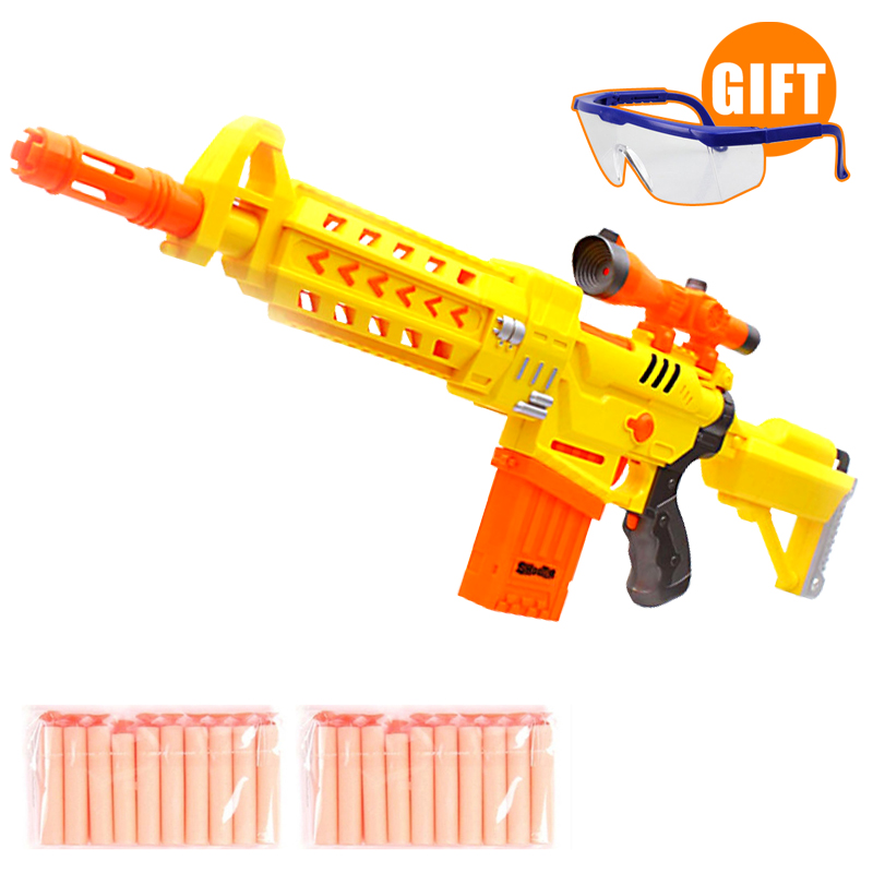 Outdoor Fun Sports Gun Yellow High quality font b Toy b font Gun Electric Airsoft Air
