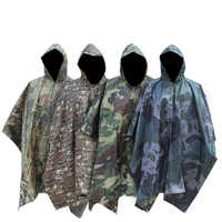 Men Women Multifunctional Camo Raincoats Rain Gear Adult Outdoor Supplies Military Impermeable Three In One Camping Fishing
