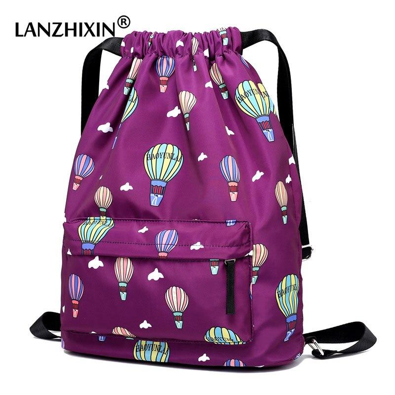 Fashion Backpack Designers Brand Casual Beach Bag Drawstring Parachute Bagpack Women Girls Black Backpacks Mochila Feminina