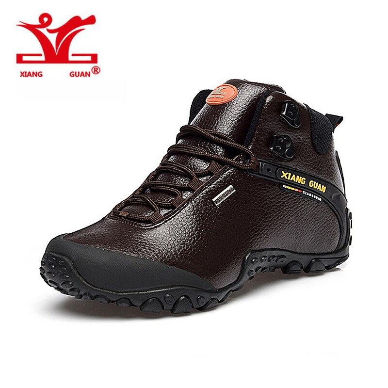 2016 XIANGGUAN Man outdoor sneaker Hiking shoes climbing High Leather mountain sport trekking tourism boots botas waterproof 2016 man women s brand hiking shoes climbing outdoor waterproof river trekking shoes