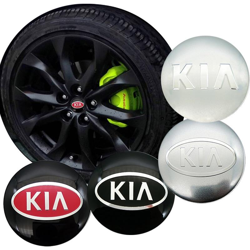 4Pcs Car 56mm Sticker Wheel Center Hub Caps Decals For KIA Cerato Sportage R K2 K3 K5 Sorento Sportage R Rio Soul Accessories