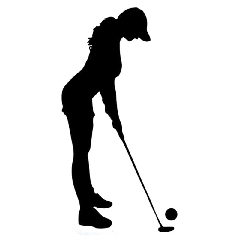 8.5CM * 16.5CM Beautiful Sexy Interesting Golf Sports Fitness Silhouette Vinyl Bumper Sticker