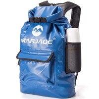 ПВХ Водонепроницаемый сухой мешок 22L открытый складной треккинг Сумка Пляжная Сумка для плавания рафтинг река океан рюкзак