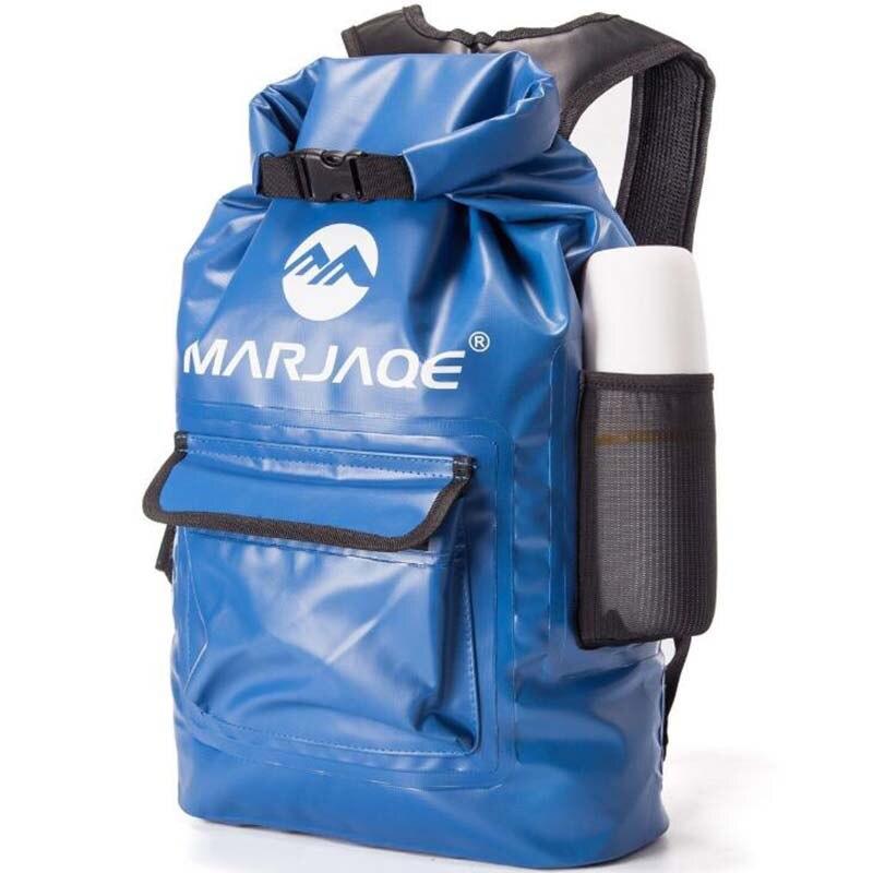 PVC Waterproof Dry Bag 22L Outdoor Foldable Trekking Bag Beach Swimming Bag Rafting River Ocean Backpack