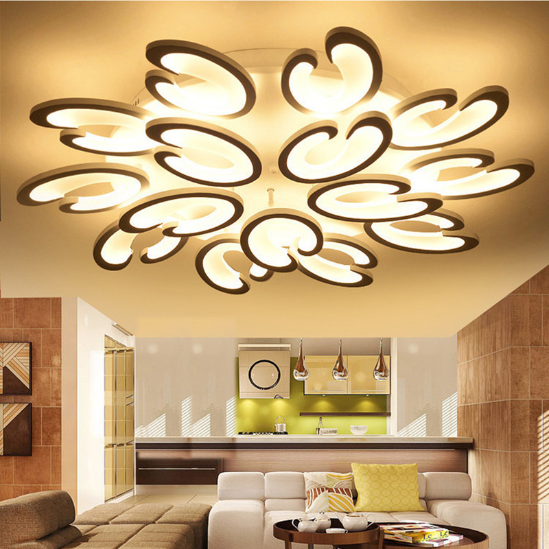 Modern led ceiling lights living bed room acrylic ceiling lamp bedroom luces del techo ceiling light  LED lighting fixtures noosion modern led ceiling lamp for bedroom room black and white color with crystal plafon techo iluminacion lustre de plafond