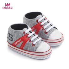 MUQGEW Children's shoes Newborn Infant Baby Boys Girls High Help Letter Warm Anti-slip Shoes Sneaker Fashion Mixed Color Shoe(China)
