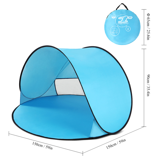 Outdoor Camping Tents Instant Pop Up Tent Baby Beach Tent Cabana Portable Anti UV Sun Shelter for Camping Fishing Hiking