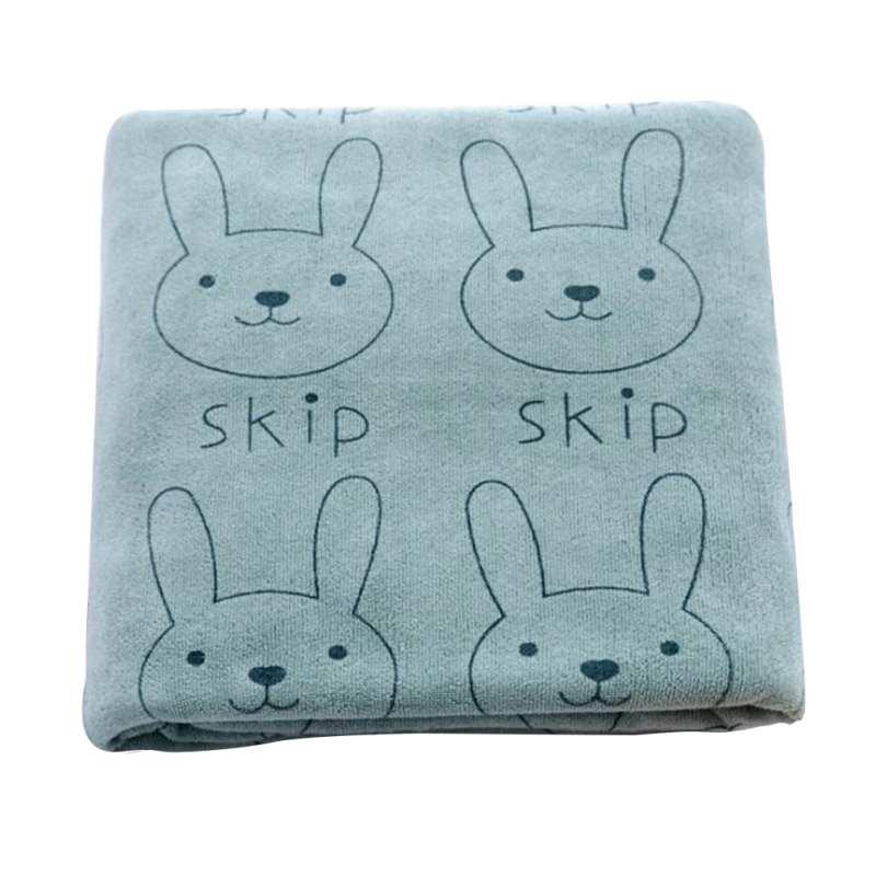 Newborn Baby Cute Infant Washcloth Rabbit Cartoon Printed Bath Blankets Bathing Feeding Wipe Cloth