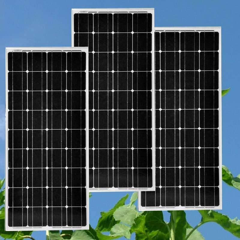 New Arrival Solar Panel 100w Monocrystalline Module 12 Volt Solar Energy Charger Paniel Solar Battery China Panneau Solaire