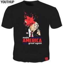 YOUTHUP 2018 Новый дизайн Whoopi Goldberg T Shirt Trump 3D Print Смешные мужские майки Летняя черная футболка Мужчины / Женщины Cool Tees Tops