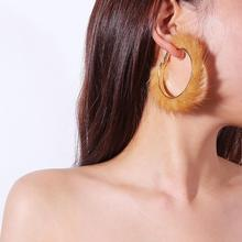 Earrings Fashion Exaggerated Personality Tide for Women Geometric Curved Water Mink Gifts