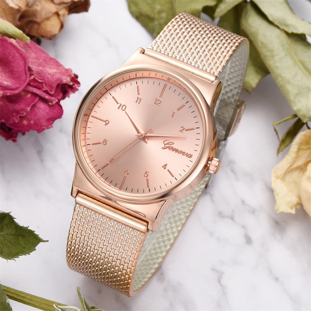 Watch Women Watches Fashion Silicone Mesh Belt Quartz Wrist Watch Alloy Dial Rose Gold Ladies Watches bayan kol saati 2019 NEW
